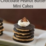 No Bake Chocolate Peanut Butter Mini Cakes