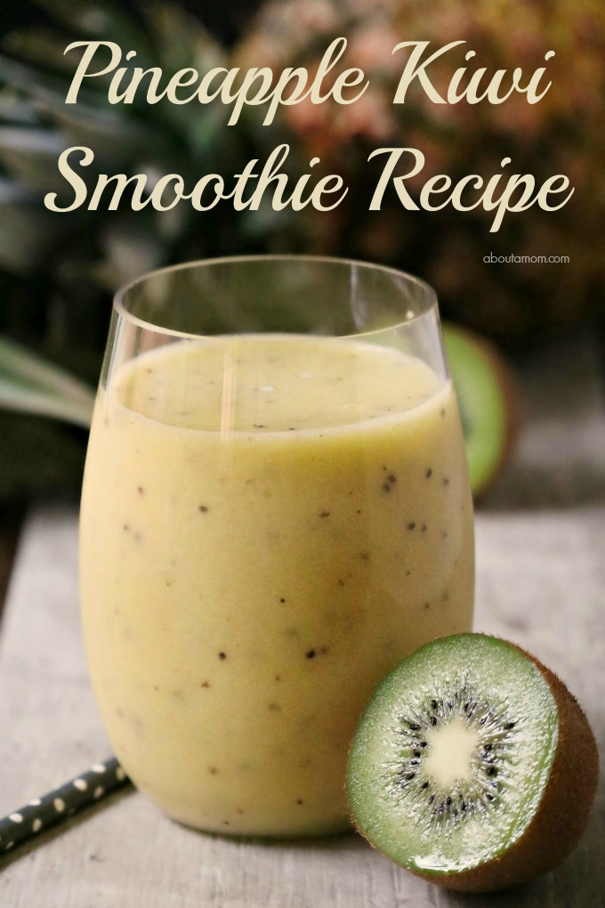 This refreshing 3-ingredient Pineapple Kiwi Smoothie is a great way to get energized any time of the day. Frozen pineapple chunks, kiwi and orange juice. It's simple summer goodness.