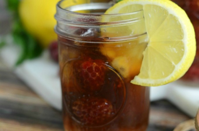 Raspberry and Mint Tea is a wonderfully refreshing summertime drink.
