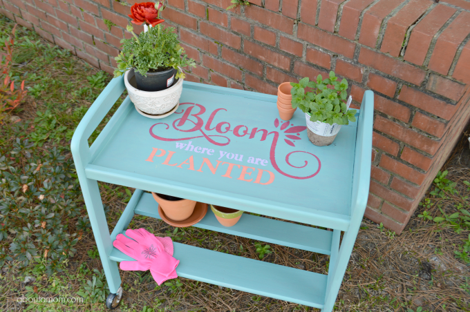 Repurpose an Old Beverage Cart into a Garden Cart