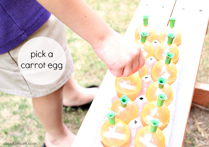 Spring Exercise Activities for Kids, pick an egg