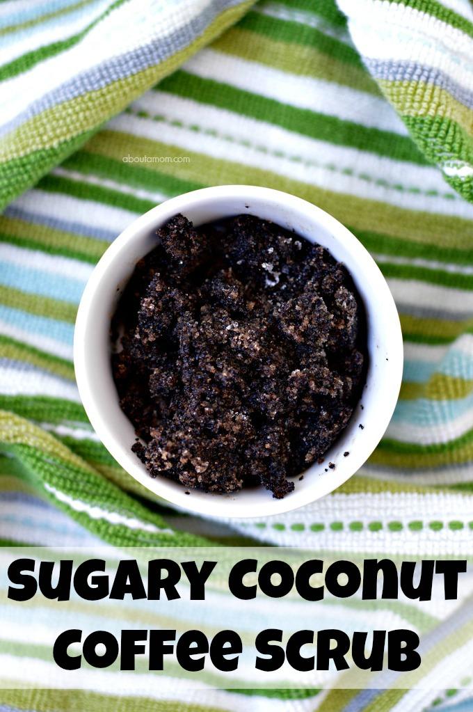 Sugary coconut coffee scrub
