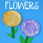Bubble Wrap Flowers Craft for Kids
