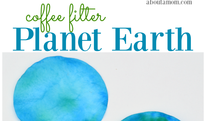 Coffee Filter Planet Earth Craft for Kids