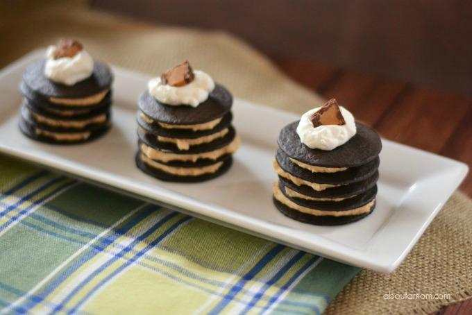 no bake dessert- No Bake Chocolate Peanut Butter Mini Cakes