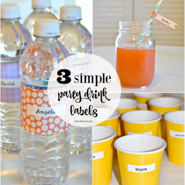 3 Simple DIY Party Drink Labels