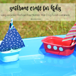 A Fun Sailboat Craft Using Recycled Nutrish Wet Dog Food Containers