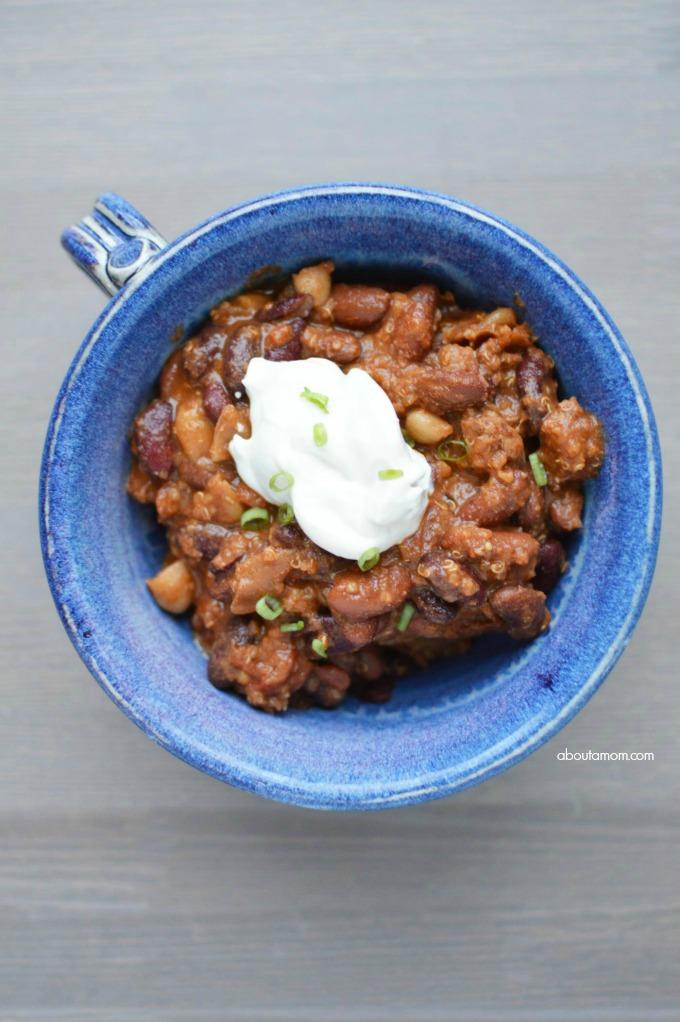 Cowboy quinoa chili