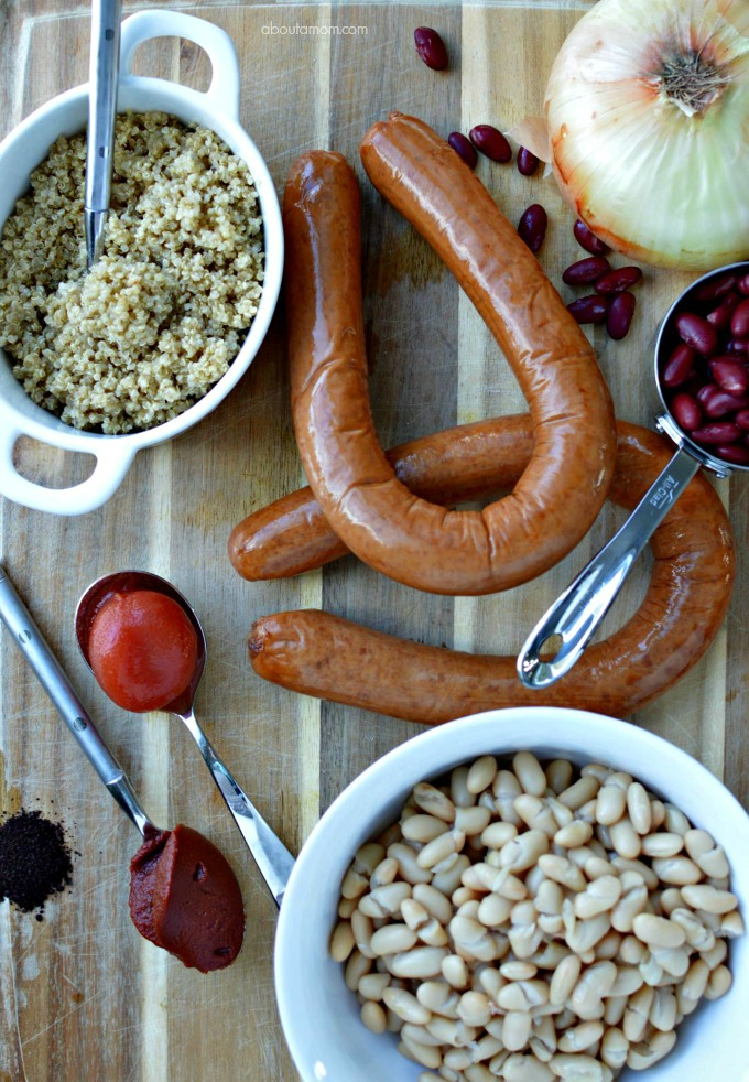Cowboy quinoa chili ingredients