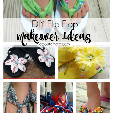 Give last year's flip flops a new look with these simple diy flip flop makeover projects!