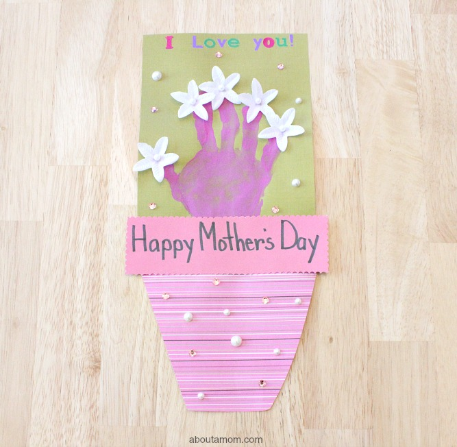 Hand Print Bouquet Mother's Day Card, final 2