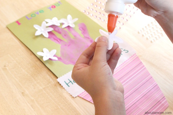 Hand Print Bouquet Mother's Day Card, flowers
