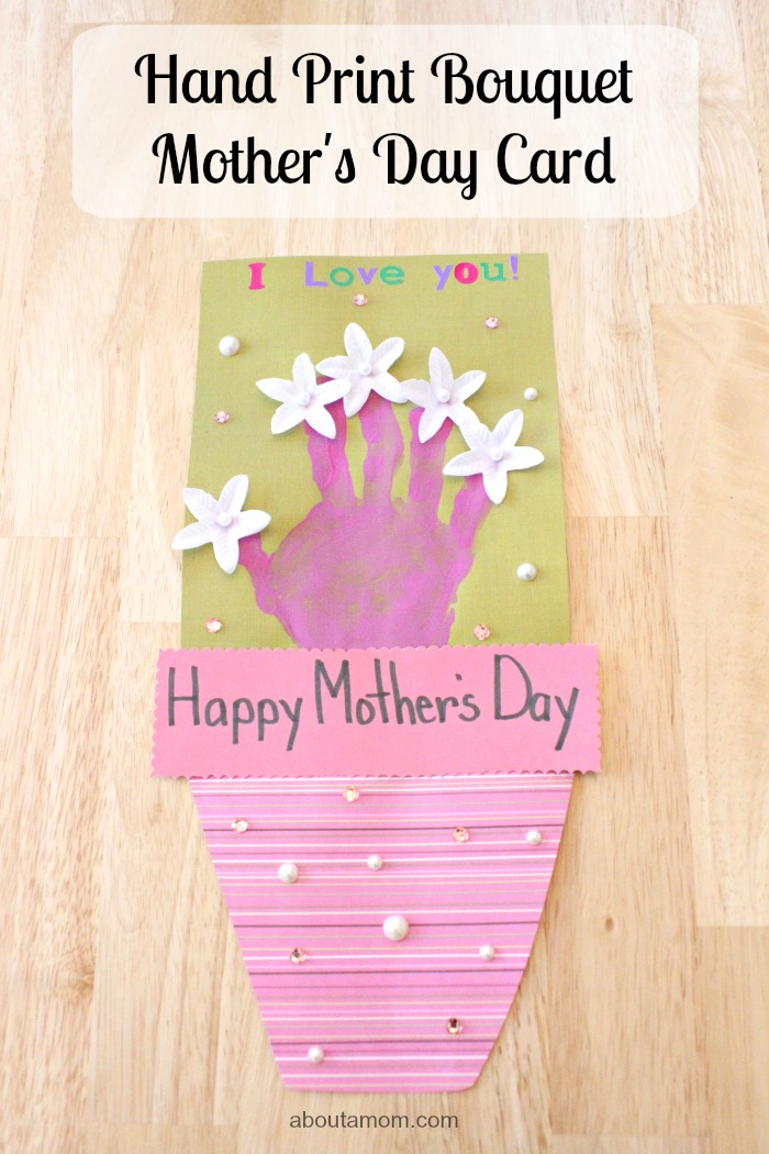 Hand Print Bouquet Mother's Day Card, hero 2