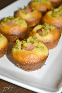 Mini Corn Dog Muffins with Dill Relish Recipe