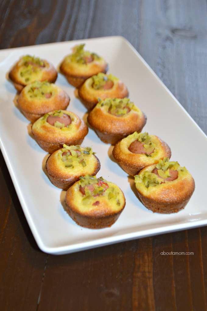 Mini Corn Dog Muffins with Dill Relish