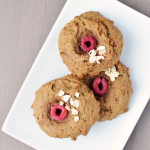 Fresh raspberries, whole wheat flour and a touch of maple syrup come together in a scrumptious raspberry cookie.