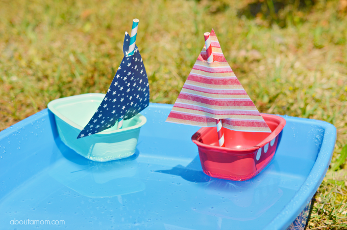 Sailboat Craft Using Recycled Nutrish Wet Dog Food Containers