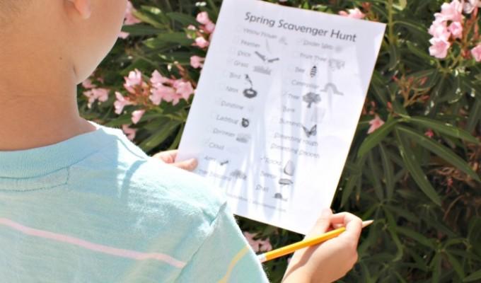 Spring Scavenger Hunt Printable