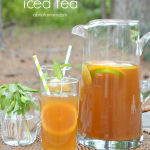 Sweet Citrus Mint Iced Tea is a refreshing summer beverage. Oranges, lemons, limes and mint upgrade this southern classic.