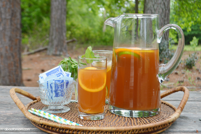 Sweet Citrus Mint Iced Tea Recipe - About A Mom