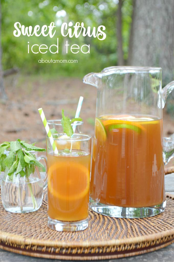 Sweet Citrus Mint Iced Tea Recipe