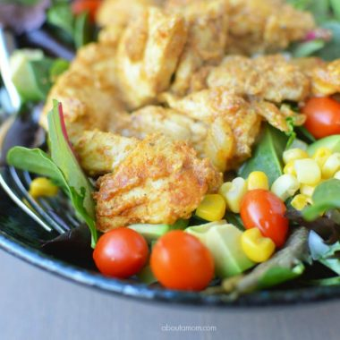 Taco chicken salad is flavorful, quick to make and always tastes fantastic. It's a great dish to have in your recipe repertoire for a fast weeknight dinner.