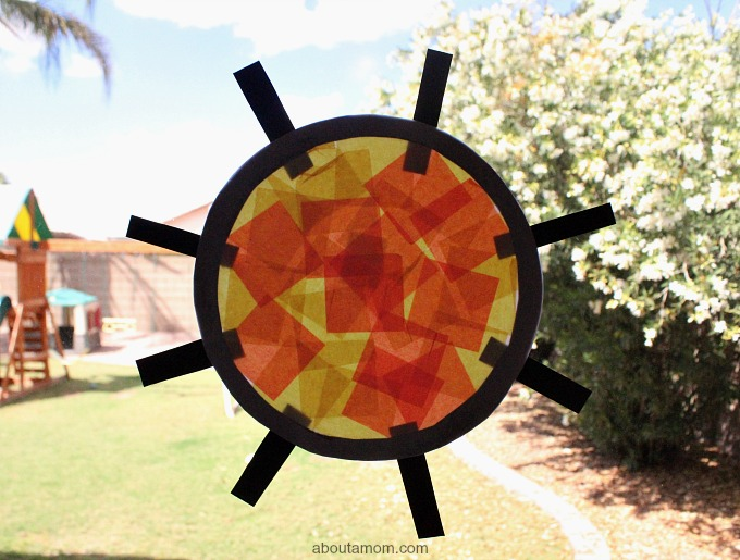 Tissue Paper Stained Glass Art for Kids