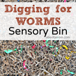 Digging for Worms Sensory Bin