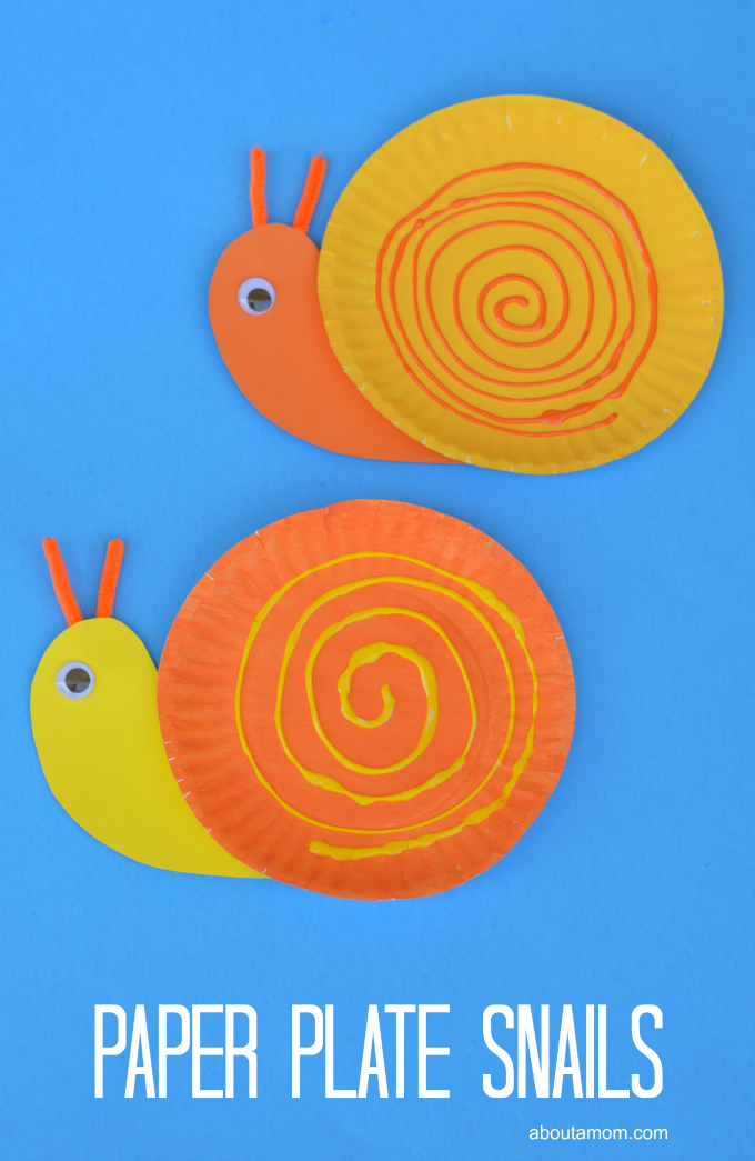Fun And Easy Spring Or Summer Paper Plate Snail Craft For Kids