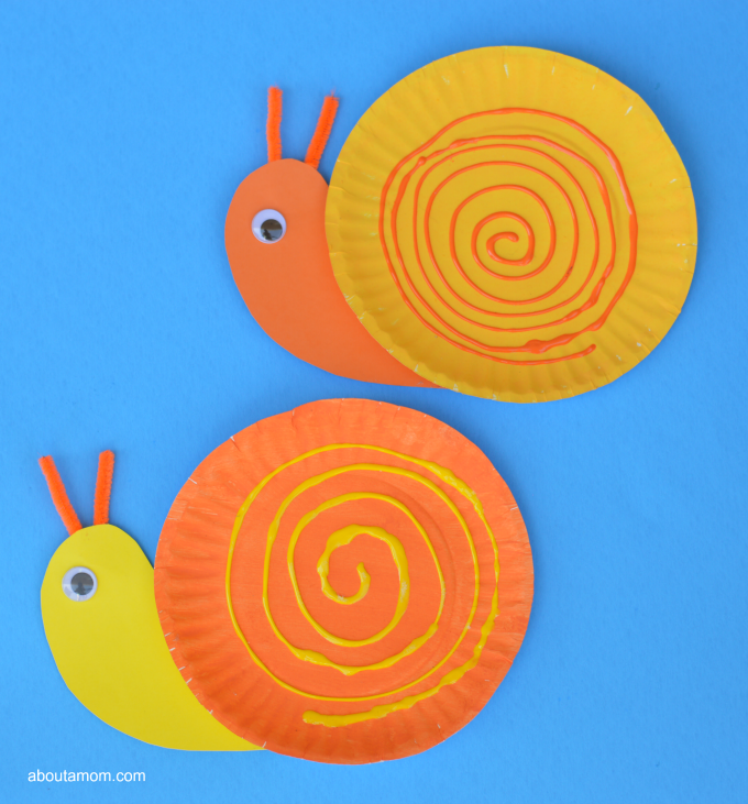 Fun and easy spring or summer paper plate snail craft for kids.  sc 1 st  About A Mom & Pape Plate Snail Craft for Kids - About A Mom