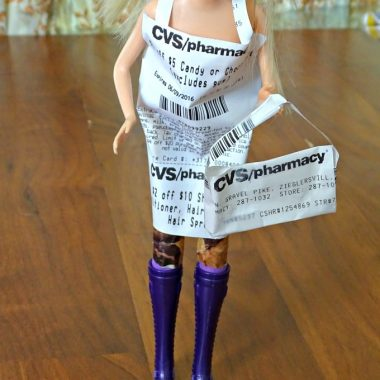 Wondering what to do with that long receipt from CVS? Make a paper dress for Barbie! CVS/Pharmacy has announced digital receipts coming soon, so make it while you can!