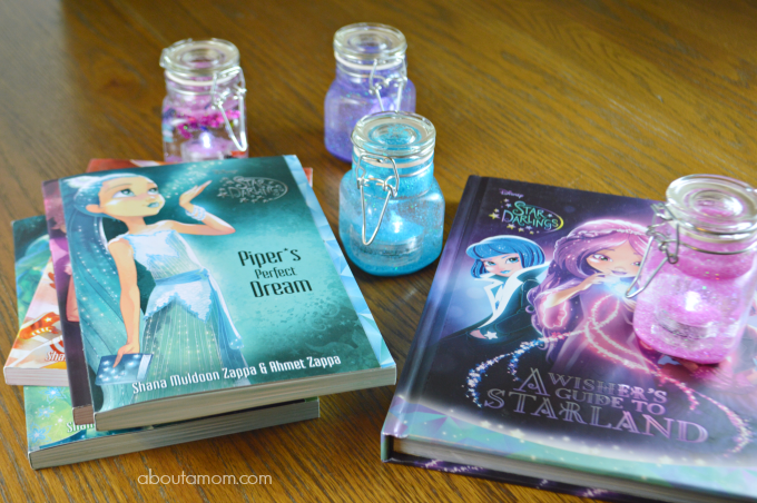 Disney Star Darlings Books and Glow Jar Craft