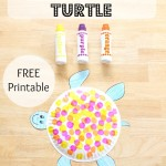 Dot Art Paper Plate Turtle FREE Printable, final image