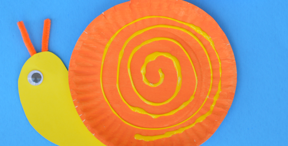 Pape Plate Snail Craft For Kids About A Mom