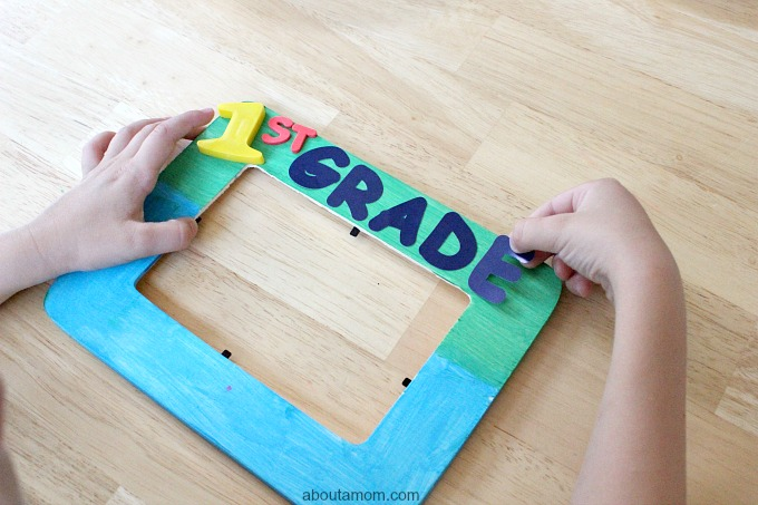1st Day of School Picture Frame Craft