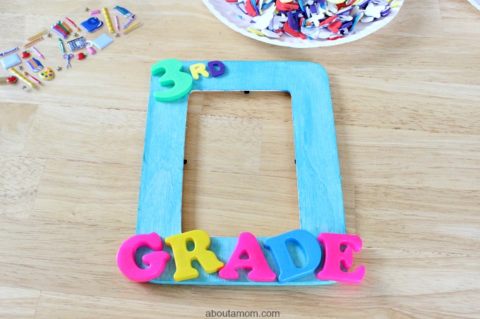 1st Day of School Picture Frame, magnetic letters