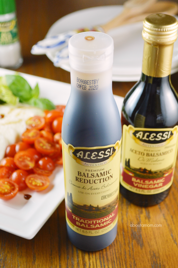Alessi Balsamic Reduction with Caprese Salad in Background