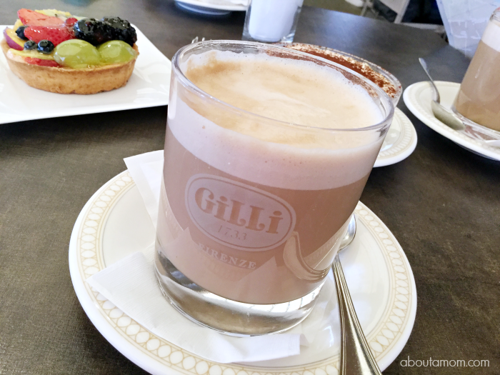 Cafe Lattes and Dessert at Gilli in Florence