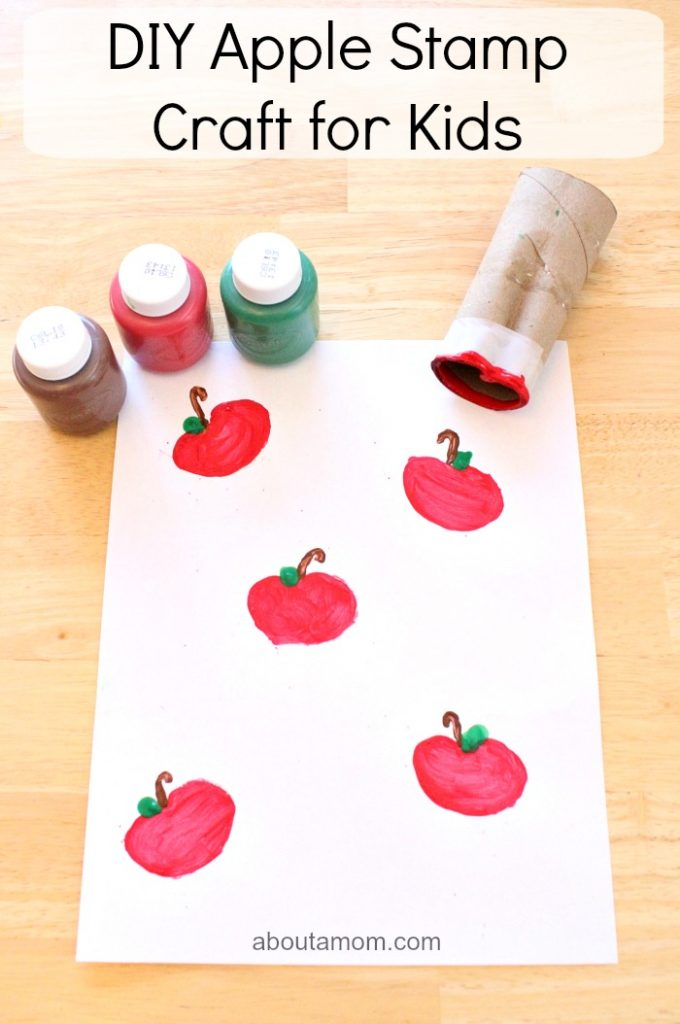 DIY Apple Stamp Craft for Kids