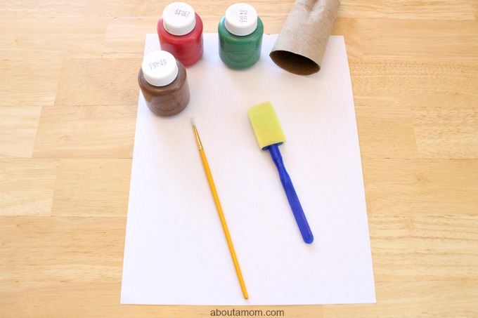 DIY Apple Stamp Craft for Kids, supplies