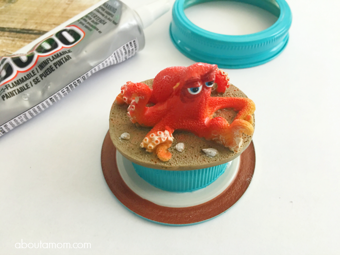 DIY Glitter Globe Featuring Hank from Finding Dory Process Image