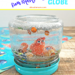 DIY Glitter Globe featuring Hank from Finding Dory
