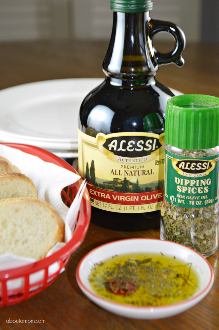 Italian Bread with Olive Oil and Alessi Dipping Spices