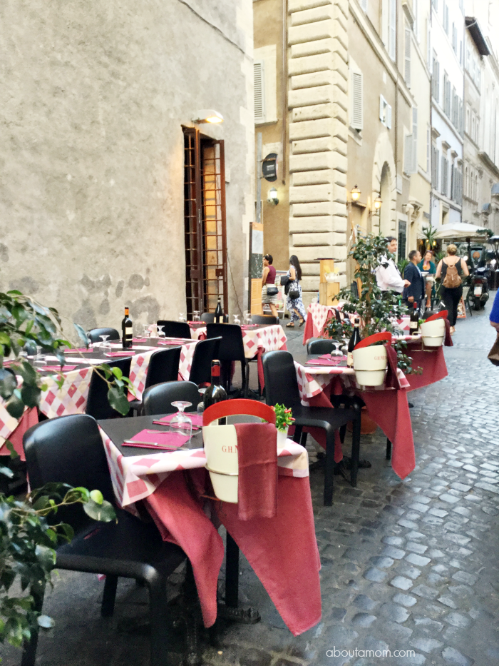 Outdoor dining in Italy