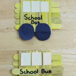 Easy Popsicle Stick School Bus Craft for Kids
