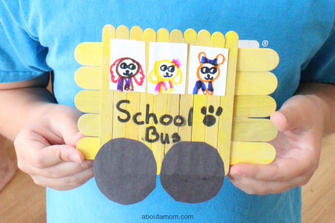 Popsicle Stick School Bus, final 1