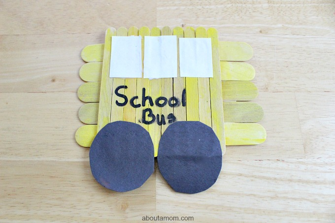 Popsicle Stick School Bus, final