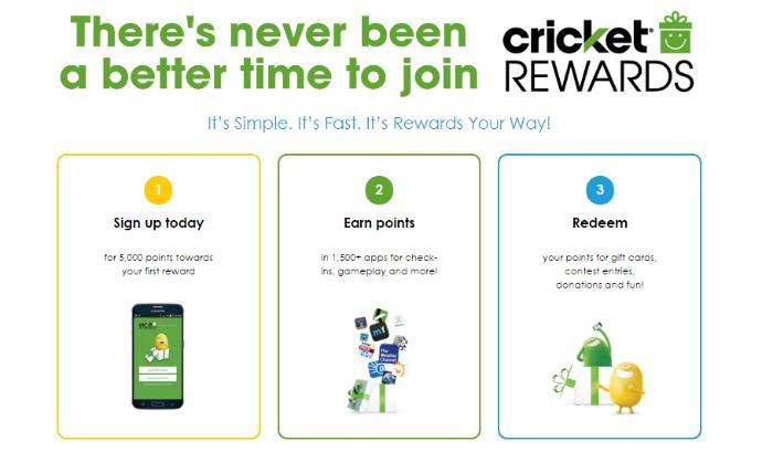 Sign Up for Cricket Rewards Program