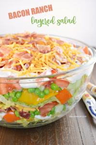 Summertime's Best Bacon Ranch Layered Salad