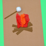 Crepe Paper Campfire Craft